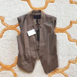 bcbgmaxazria light brown tailored vest